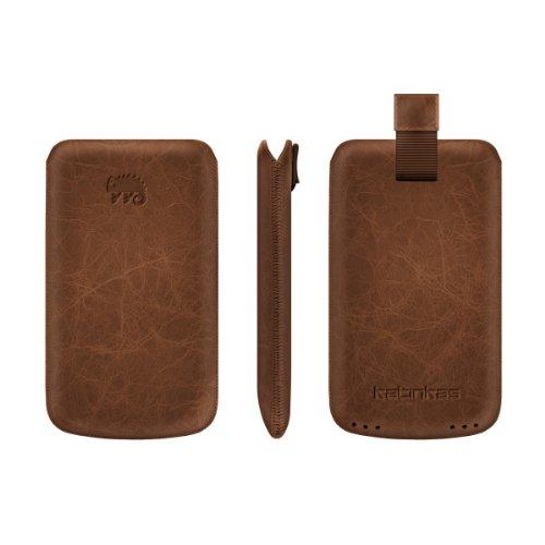 Katinkas Premium Custodia in Pelle per Nokia C7 Creased - Light Brown