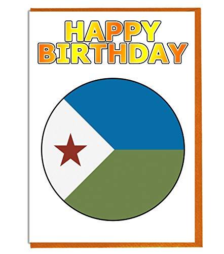 Geburtstagskarte Dschibuti Flagge – Fre& – Familie – Kollege – Mate – Boss – Loved One