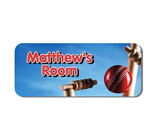 Solo Signs UK Plaque de porte de cricket – Sports personnalisé pour chambre d'enfant (SS30041)