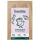Franklin - Croquettes sans Céréales - Chiot - 100% Naturel – Défenses Immunitaires – Croissance - Poulet, Dinde, Saumon - 2.5kg