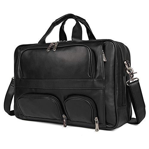 FQXM lederen schoudertas 17 inch laptoptas heren schoudertas outdoor vrije tijd Messenger tas reistas