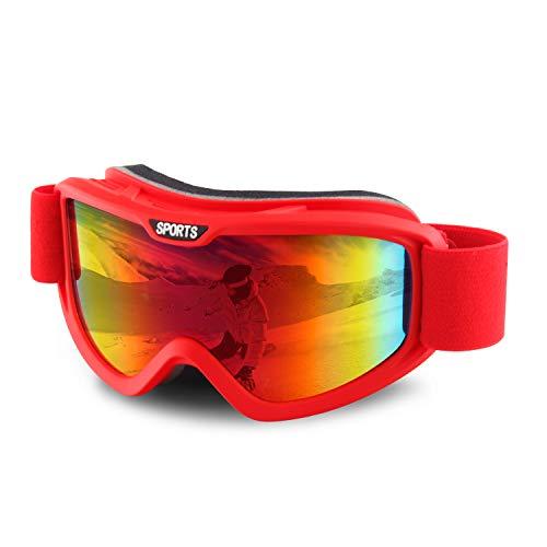 DUDUKING Gafas de Esquí, Gafas de Snowboard UV400 Protección para Hombre Mujer Anti Niebla Gafas de Esquiar OTG Protección UV Lente