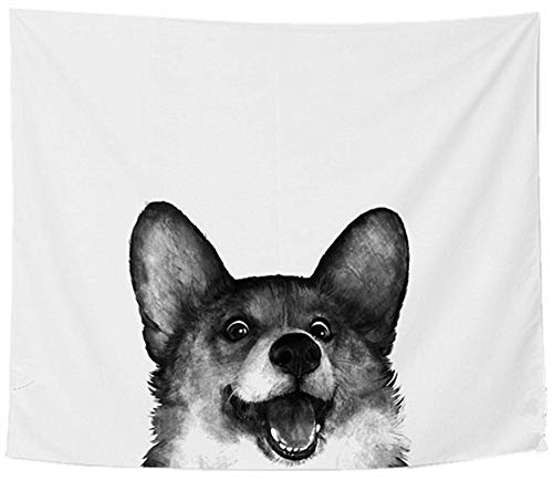 Rrrrr Dog Canvas Canvas Wall Art Picture Print Home Decor Monochrome Design Ultra Realistic Collection Black and White Trendy Instagram 2018 (130cm x 150cm)