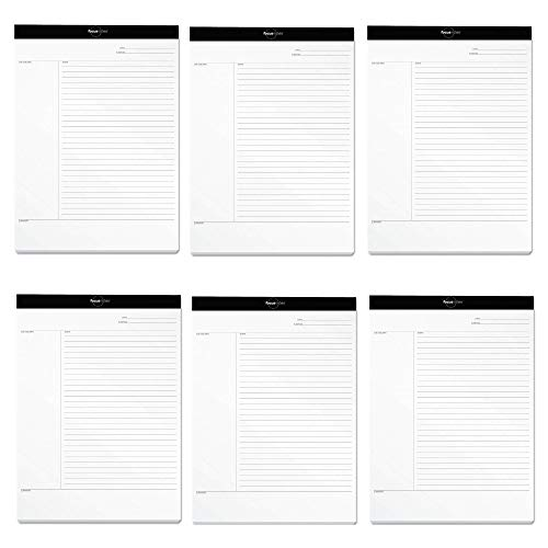 TOPS FocusNotes Note Taking System Legal Pad, 8-1/2 x 11-3/4 Inches, White, 50 Sheets (77103) - 6 PACK