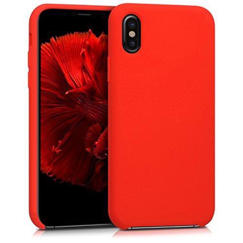 kwmobile Cover Compatibile con Apple iPhone X - Cover Custodia in Silicone TPU - Back Case Protezione Cellulare Rosso