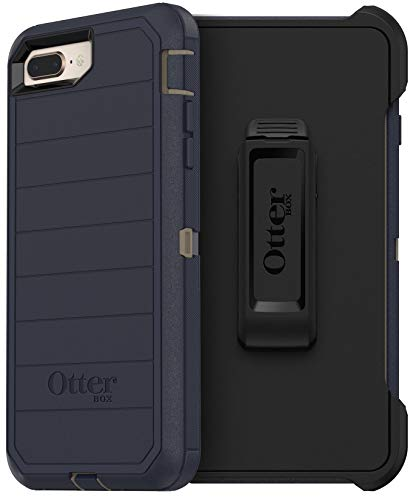 OtterBox Defender Series Rugged Case & Holster for iPhone 8 PLUS & iPhone 7 PLUS (ONLY) Non-Retail Packaging - Dark Lake - With Microbial Defense