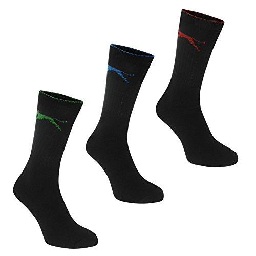 Slazenger Herren 5er Pack Viertel Midi Sport Socken Freizeit Bright Asst Herren UK 7-11