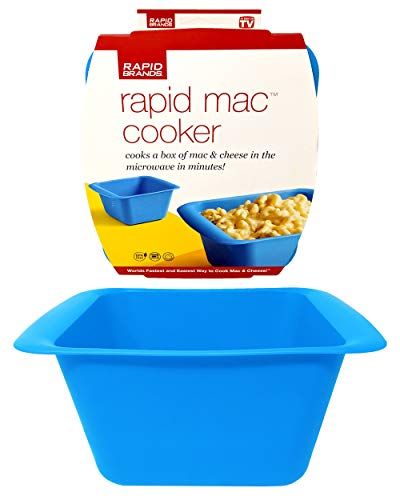 Rapid Mac Cooker | Microwave Macaroni & Cheese in 5 Minutes | Perfect for Dorm, Small Kitchen, or Office | Dishwasher-Safe, Microwaveable, BPA-Free (Blue)