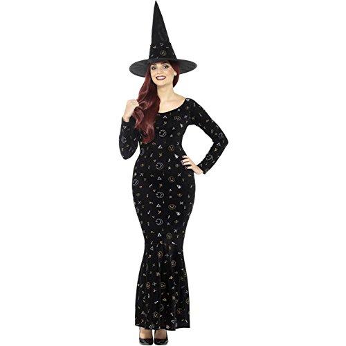 SMIFFYS 45120L Deluxe Black Magic Ouija costume da strega (grande)