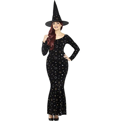 SMIFFYS 45120L Deluxe Black Magic Ouija costume da strega (grande)