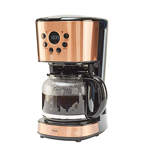 Neo 1.5L Filter Coffee Maker Machine Automatic Setting Digital Timer 12 Cups