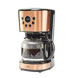 Neo 1.5L Filter Coffee Maker Machine Automatic Setting Digital Timer 12 Cups (Copper)