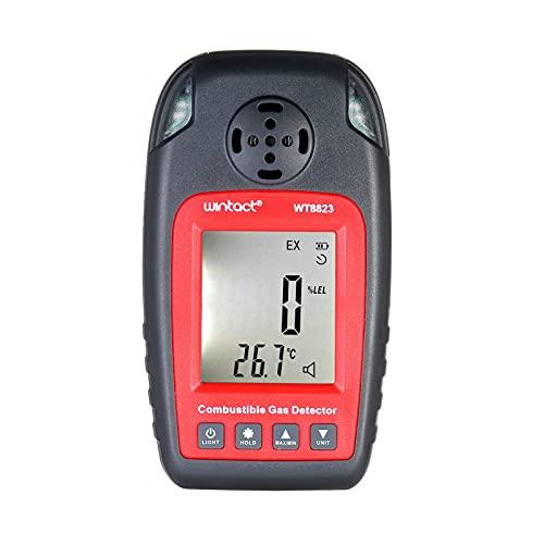 WNN-URG Brennbarer Gasdetektor-CO2-Meter-Prüfgerät digital mit USB-Kabel und amprecharagierbaren Batterien URG
