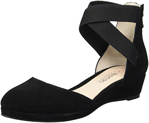 Blondo Women's Cathy Waterproof Ballet Flat, Black Suede, 7.5 M US