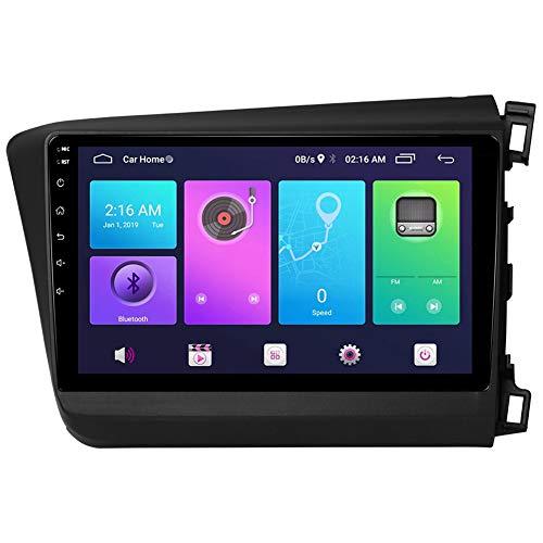 LINNJ Navegación de Coche Android Car Stereo Sat Nav para Honda Civic 2012-2015 (péptido Derecho) Unidad Principal Sistema de navegación GPS SWC 4G WiFi BT USB Mirror Link Carplay Integrado