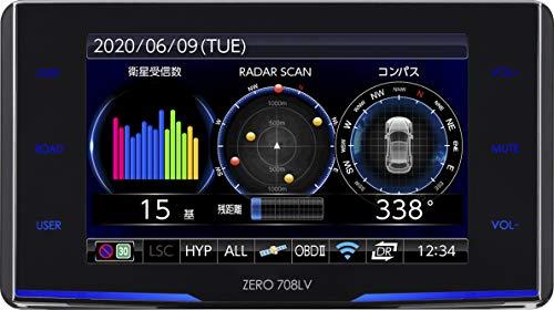 コムテック レーザー受信対応レーダー探知機 ZERO 708LV 無料データ更新 新型レーザー式オービス対応/レー...
