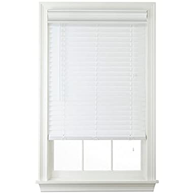 2  Faux Wood Horizontal Blinds - White (36x72)