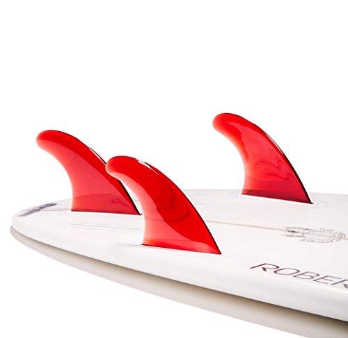 DORSAL Flexrez Core Thruster Surfboard Fins (3) FUT Tri Fin Compatible Red