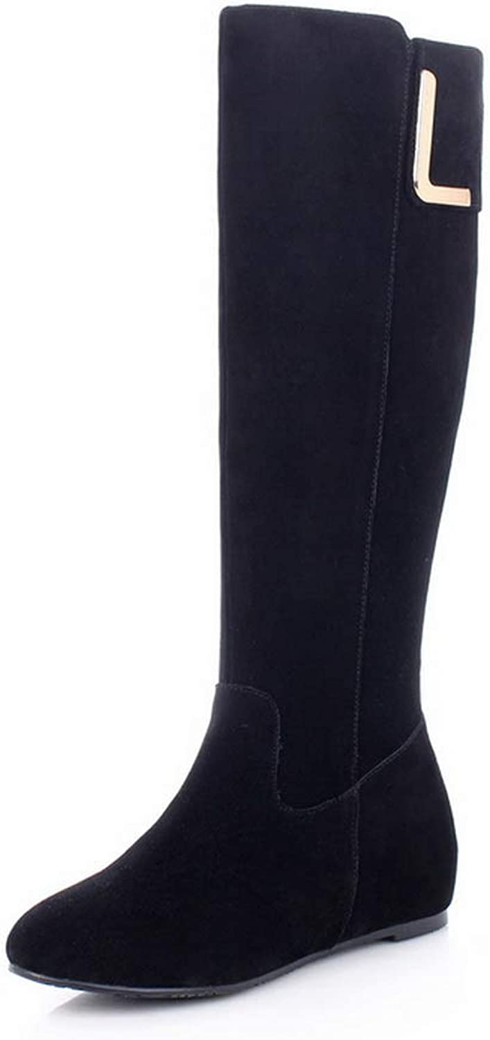 AdeeSu Womens Nubuck Solid Boots Leather Boots SXE04950