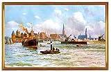 Kunstdruck Der Hafen von Lübeck um 1909 Deutsches Reich