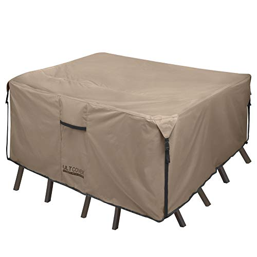 ULTCOVER Square Patio Heavy Duty Table Cover - 600D Tough Canvas Waterproof...