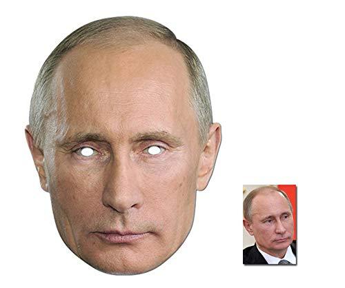 BundleZ-4-FanZ Fan Packs Vladimir Putin Russian President Single Karte / Pappe Partei Maske Enthält 6X4 (15X10Cm) starfoto
