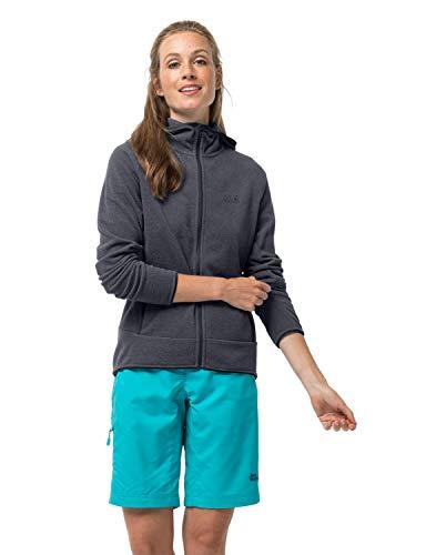 Jack Wolfskin Damen ARCO Jacket Women Warme Fleecejacke, Ebony Stripes, XL