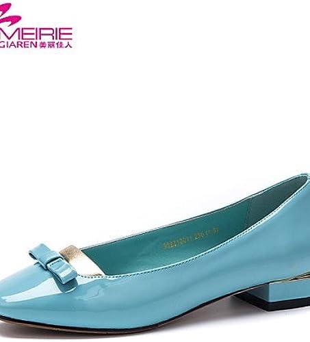 PDX Meirie Chaussures de femme simili cuir similicuir Talon bas Bout arrondi Bout fermé Chaussures plates décontracté Noir bleu beige