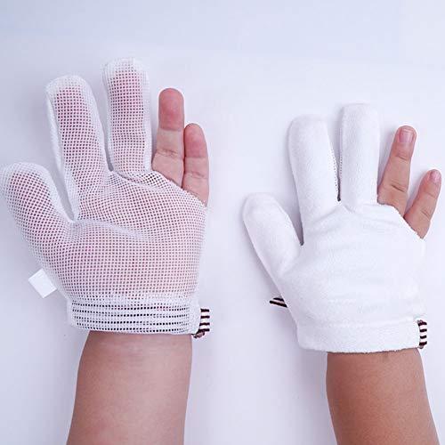 GAOJINXIURZ Thumb Sucking Stop for Kids Baby's Anti-Eating Hand Artifact, Children's Middle Finger Corrector, Baby's Anti-Eating Hand, Finger cots (Color : A, Size : XXXL)