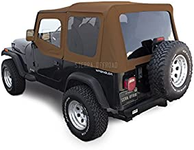 Sierra Offroad Jeep Wrangler YJ (1988-95) Factory Style Soft Top with Tinted Windows, with Upper Doors Spice Denim