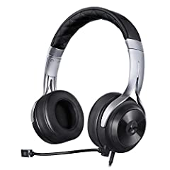 Amplified headset with rechargeable lithium-ion battery 40mm speakers for booming bass, crystal-clear highs, and bass boost Memory foam ear pads for enhanced comfort and innovative easy to use controls Removable boom mic and playback/call controls fo...