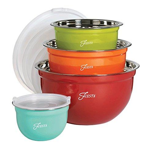 Fiesta Mixing 8-Piece Bowl Set with Lids