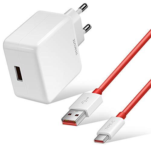 TITACUTE Dash Ladegerät, 5V 4A OnePlus Ladegerät mit Dash Charge Kabel 1,8m USB C Schnelllade Netzteil 20W Quick Charge Adapter Kompatibel mit OnePlus 9 9 Pro 8T Nord 8 Pro,VOOC Gebühr für Oppo Reno Z