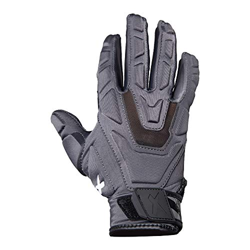 Xenith Football Youth Power Lineman Gloves (Black, XLarge)