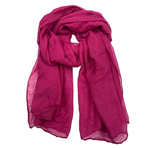 Woogwin Women's Cotton Scarves Lady Light Soft Fashion Solid Scarf Wrap Shawl (One Size, Purple)