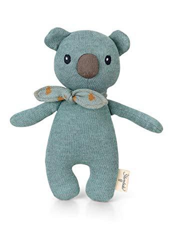 Sterntaler Stay true to nature Strick-Spieltier Koala Kalla, Für Babys ab der Geburt, 24 x 13 cm, Hellblau