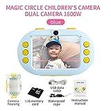 DZSF 16 Millionen-Pixel-Kamera Für Kinder Stoß- Und Wasserdicht Vorne Und Hinten Selfie Kamera Kinder Lernspielzeug,D
