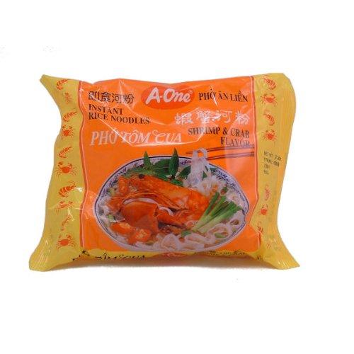 Instant Reisnudeln mit Shrimp und Krabben Geschmack Pho Tom Cua 65 g
