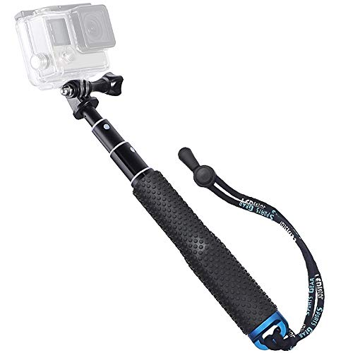 "Trehapuva Selfie Stick, 19"" Waterproof Hand Grip Adjustable Extension Monopod Pole Compatible with GoPro Hero(2018) Hero 9 8 7 6 5 4 3+ 3 2 1 Session, AKASO, Xiaomi Yi,SJCAM SJ4000 SJ5000 SJ6000 More"