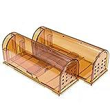 CaptSure Original Humane Mouse Traps, Easy to Set, Kids/Pets Safe, Reusable for Indoor/Outdoor use,...