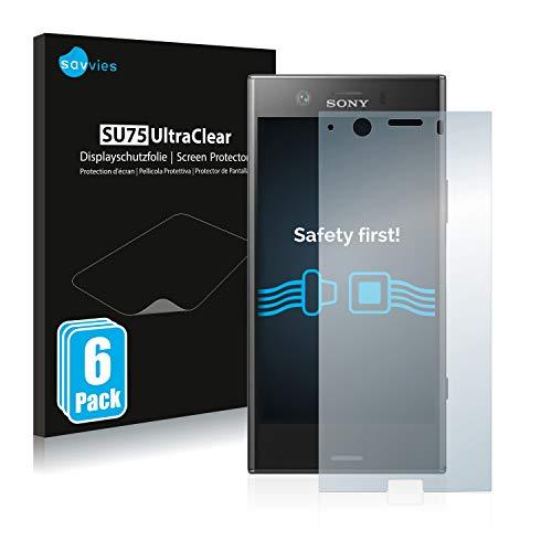 savvies 6-Pezzi Pellicola Protettiva Compatibile con Sony Xperia XZ1 Compact Protezione Schermo Trasparente