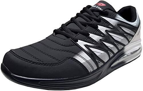 gibra® Herren Sneaker Sportschuhe Turnschuhe Übergröße, schwarz/weiß, Art. 6547, Gr. 49