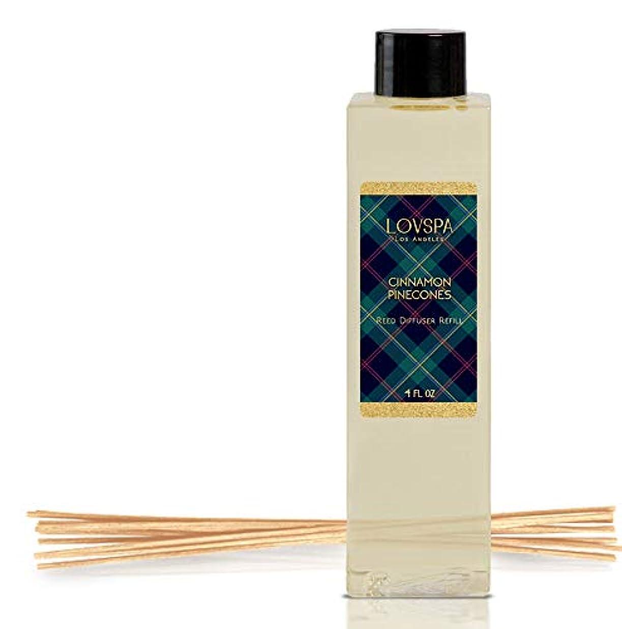 放棄された有名な定期的なlovspa Reed Diffusers Oil Refill | Great Gift Idea For Momお父さんや叔母、おばあちゃん、Nana、 4 oz LOVPSA-REFILL-CINCONES