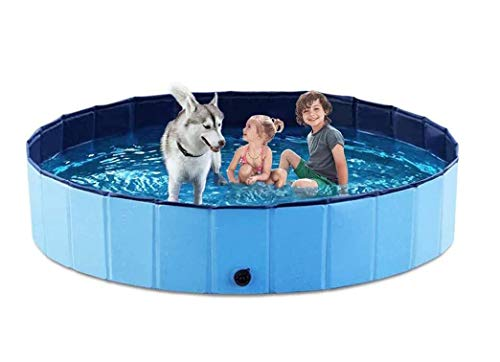 PVC Pet Foldable Swimming Pool Dogs Cats Bathing Tub Portable Bathtub Collapsible Water Pond Pool &...