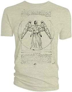 Men's Vitruvian Weeping Angel T-Shirt Sand