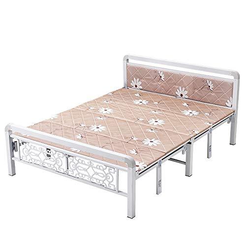 JIA Xing Doppelklappbett Mit Matratzenverstärkung Verdickung Klappbett Haushalt Einzelbett Doppelbett Siesta Bett Büro Lunchbett Holzbett Einfaches Bett campingliege