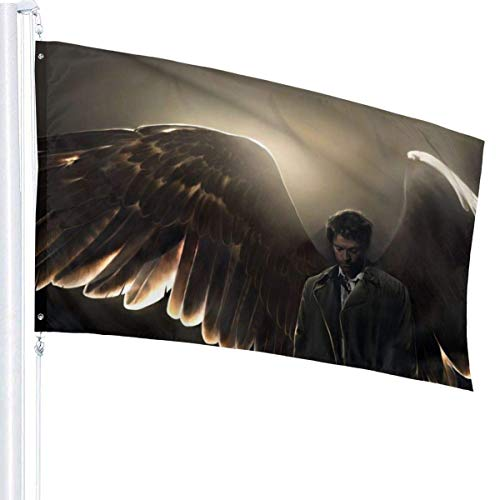 BHGYT Supernatural Flag 3x5 FtDecorative Esterni Anti UV Dissolvenza all'Interno Bandiere Cortile Stagionale e Festivo Bandiera Banner 3x5 Piedi