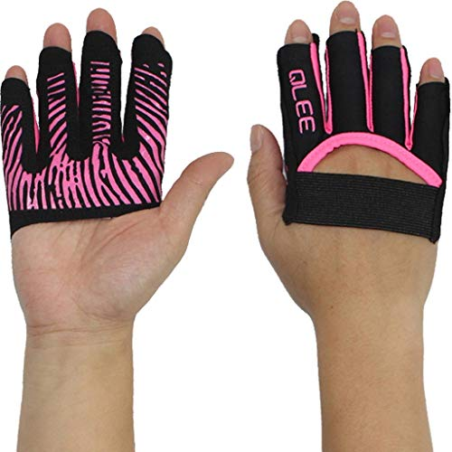 Hombre Guantes s Similar Chic Perdido Femenino Gimnasio Antideslizante Friends Yoga Movimiento Aéreo Pull Up Barbell 1 Doble (Color Verde Tamaño M) (Color : Pink, One Size : XL)