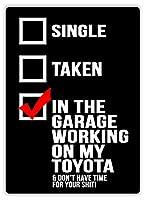 ガレージワーキングトヨタ 金属板ブリキ看板警告サイン注意サイン表示パネル情報サイン金属安全サイン