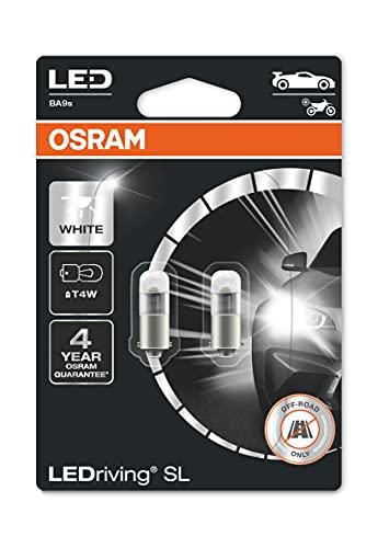 OSRAM LEDriving SL, ≜ T4W, blanco 6000K, lámparas de señalización LED, solo uso todoterreno, no ECE, blister doble